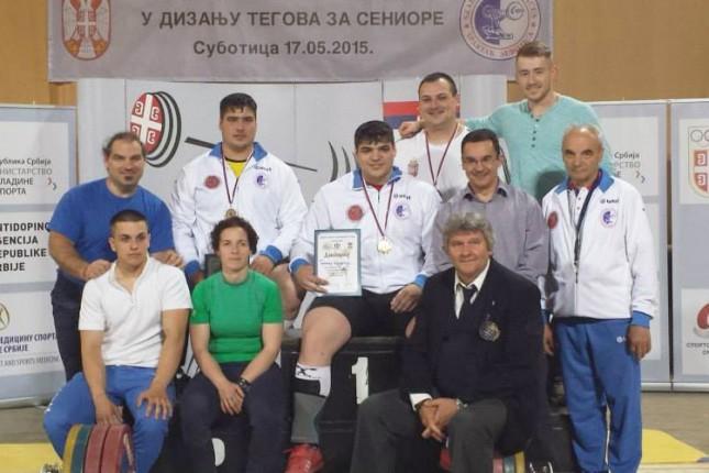 Dizači tegova Spartaka osvojili 5 seniorskih medalja i oborili nekoliko državnih rekorda