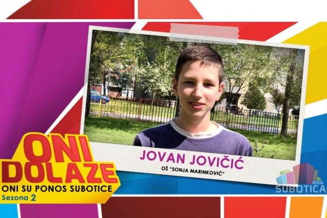 "Oni dolaze: Jovan Jovičić, maturant OŠ ""Sonja Marinković"""