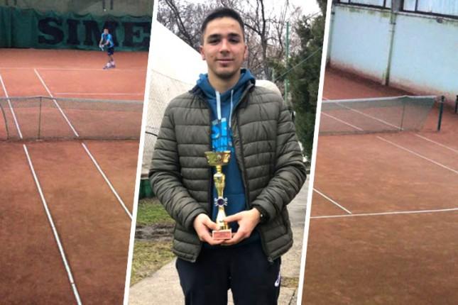 Tenis: ITF titula Otvorenog prvenstva Subotice za Adama Kovača iz Spartaka