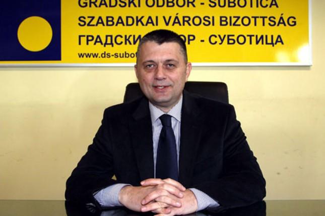 Saša Vučinić novi predsednik DS u Subotici
