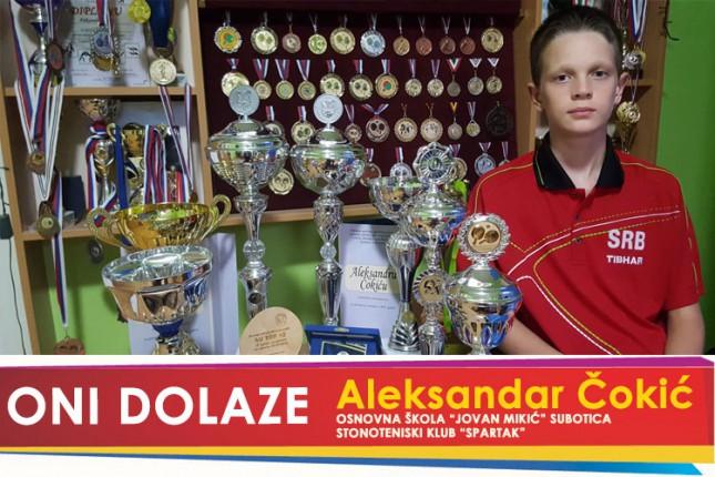 "Оni dolaze: Aleksandar Čokić, učenik OŠ ""Jovan Mikić"" i član Stonoteniskog kluba ""Spartak"""