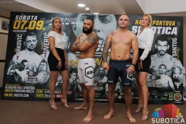 Veče vrhunskih MMA borbi u subotu u Hali sportova