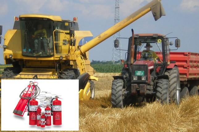 Provera protivpožarne zaštite kombajna i traktora