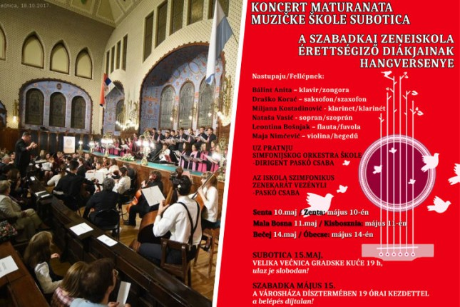 Koncert maturanata Muzičke škole večeras u Velikoj većnici