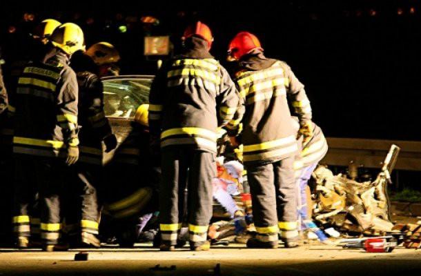 Teška saobraćajna nesreća na delu autoputa Subotica - Mali Iđoš