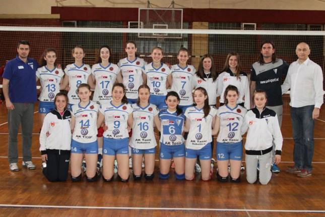 Odbojkašice Spartaka na finalnom turniru Prvenstva Srbije za pionirke