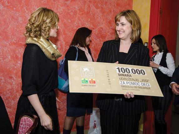 "Euro Petrol i Euro Gas donirali 100.000 dinara Udruženju ""Jogi"""