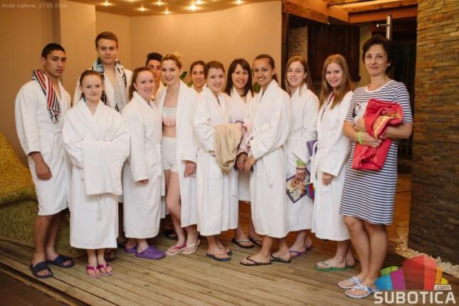 """Učenici Medicinske škole na praksi u Wellness centru hotela """"Galleria"""""""