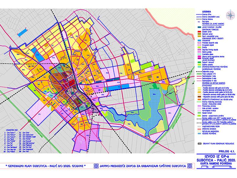 karta subotice Dorađeni nacrt Plana generalne regulacije centra Subotice i Palića  karta subotice