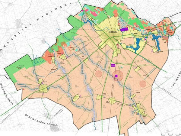 Mapa Ulica Subotice Superjoden