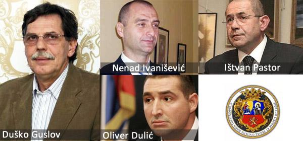 Duško Guslov, Nenad Ivanišević, Oliver Dulić, Ištvan Pastor