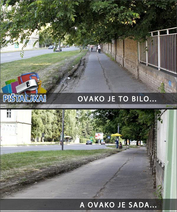 Subotica.com - Pištaljka rešena - biciklistička staza kod bolnice