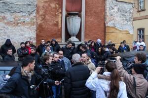 Održan protest subotičkih špeditera | (Vesti - 09 01 2014
